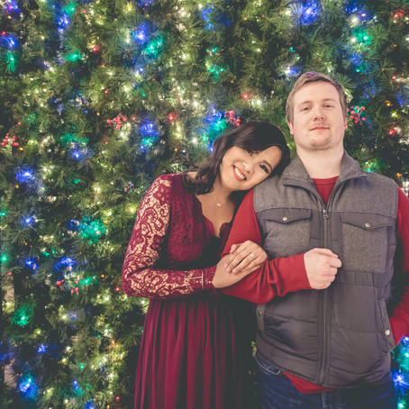 Christmas Themed Engagement: Arianne + Keven