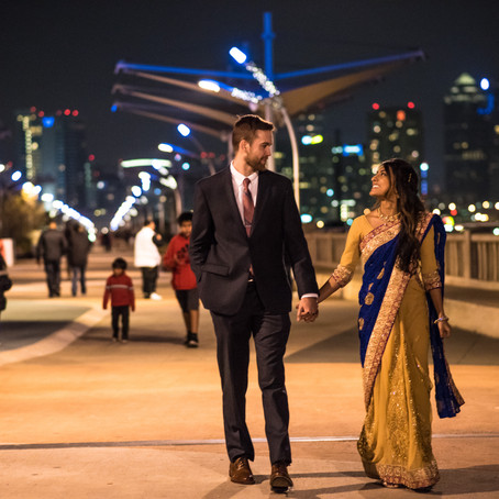 Engagement at Ronald Kirk Pedestrian Bridge | Dallas, TX: Rushmi & Casey
