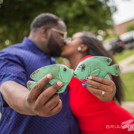Engagement at Armstrong Park (Duncanville): Charli + Lawrence