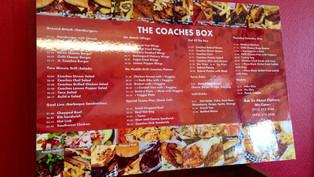 The Coaches Box - Food Shoot & Menu Board