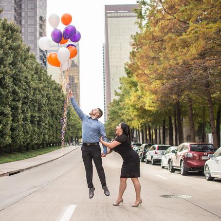 Engagement at Klyde Warren Park Dallas: Natasha + Eric