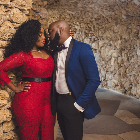 Engagement at the Dallas Arboretum and Botanical Garden: Zainabu + Jeff