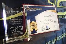 SNSI 表彰状