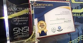 SNSI表彰状