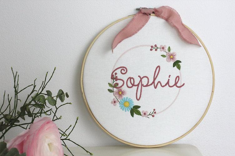"""Stickrahmen/Stickbild """"Sophie"""" mit Namen"""