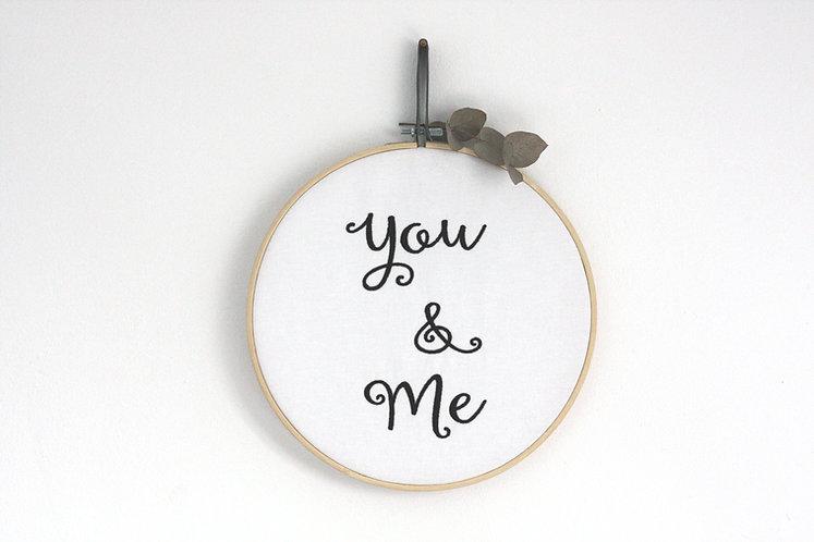 "Stickrahmen/Stickbild ""You & Me"""