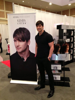 Not a bad gig for the weekend! Hanging with ... Well ... MYSELF! KENRA hair