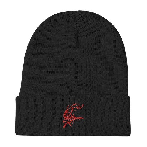 Scura (red) Embroidered Beanie