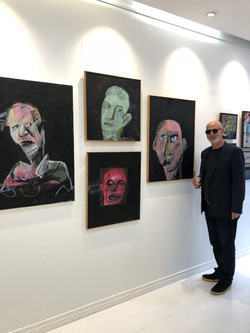 Peter Berner with his work