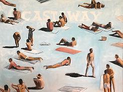 Mitchell English 'Castaway' Oil on canva