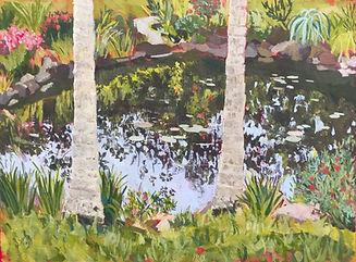 _ Spring pond, 2020, size 46 x 61cm, gou