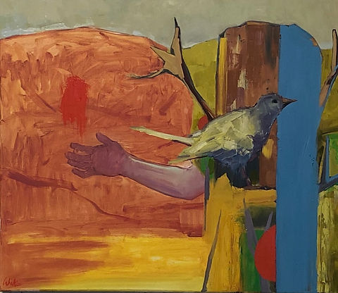 Anthony Cahill, _Bird in hand_ 2020 50 x