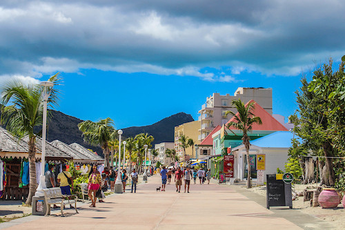 Shopping, restaurants Phillipsburg area St. Maarten