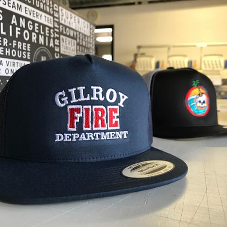 GILROY FIRE DEPARTMENT HATS
