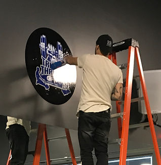 wall wrap sign installatin