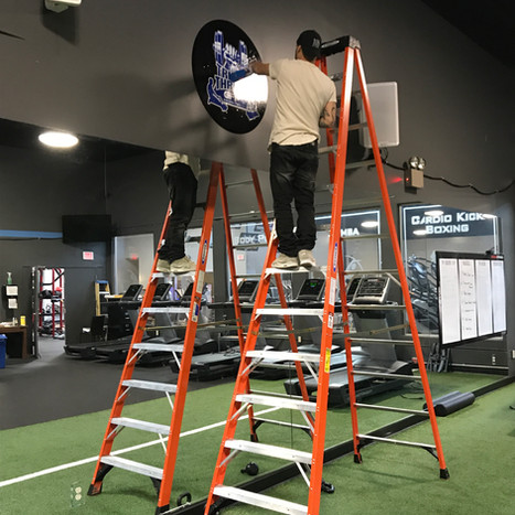 WALL WRAP INSTALLATION AT GILROY FAMILIY FITNESS
