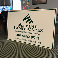 ALPINE LANDSCAPES ALUMINUM SIGN