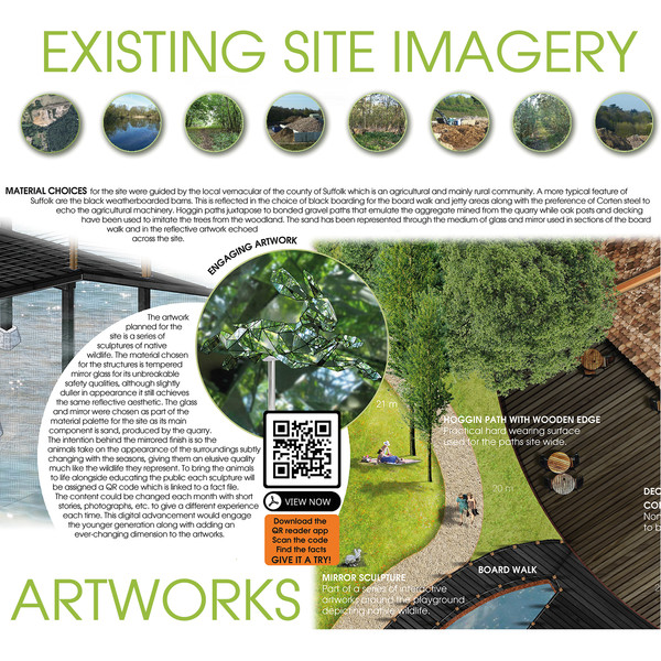 EXISTING SITE IMAGERY WITH PROPOSED ARTWORKS