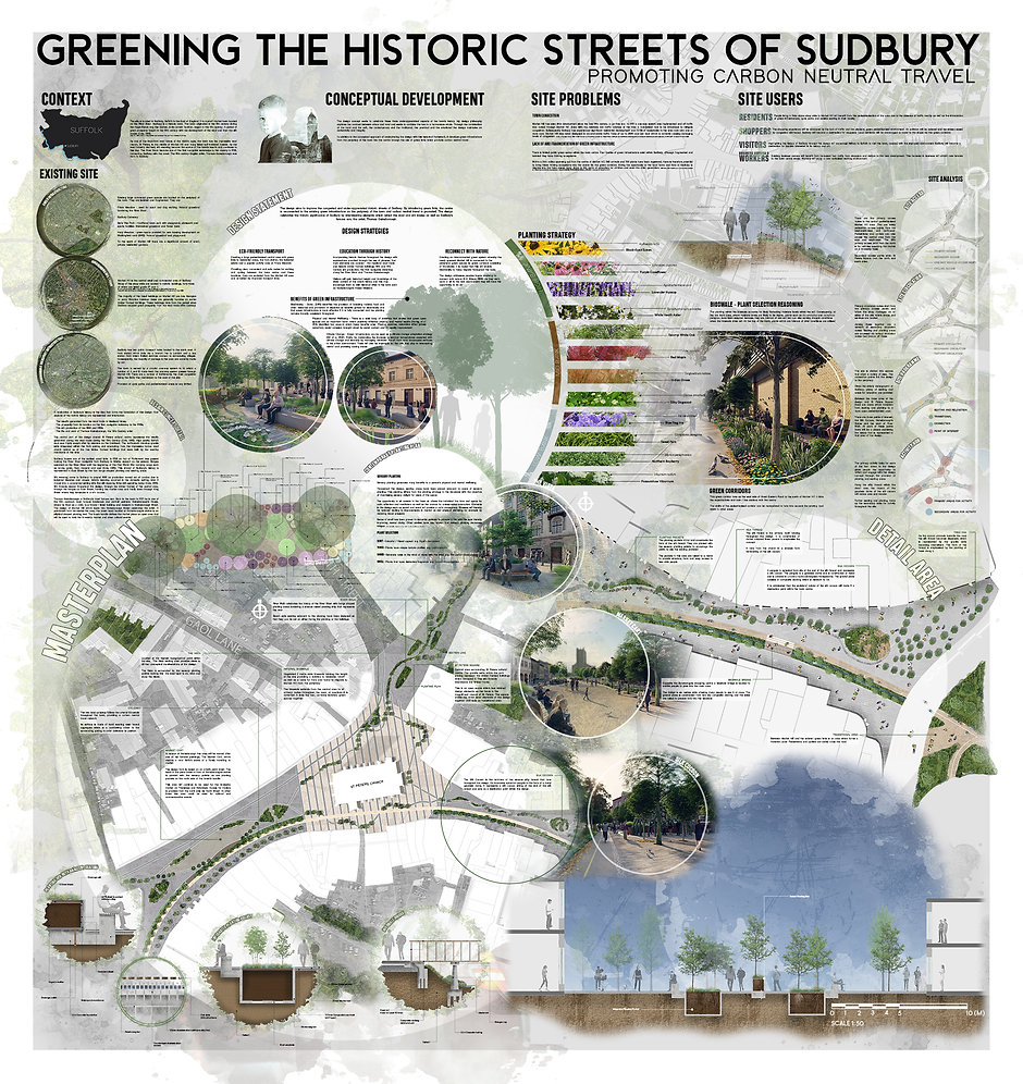 Greening the Historic Streets of Sudbury and Promoting Carbon Neutral Travel