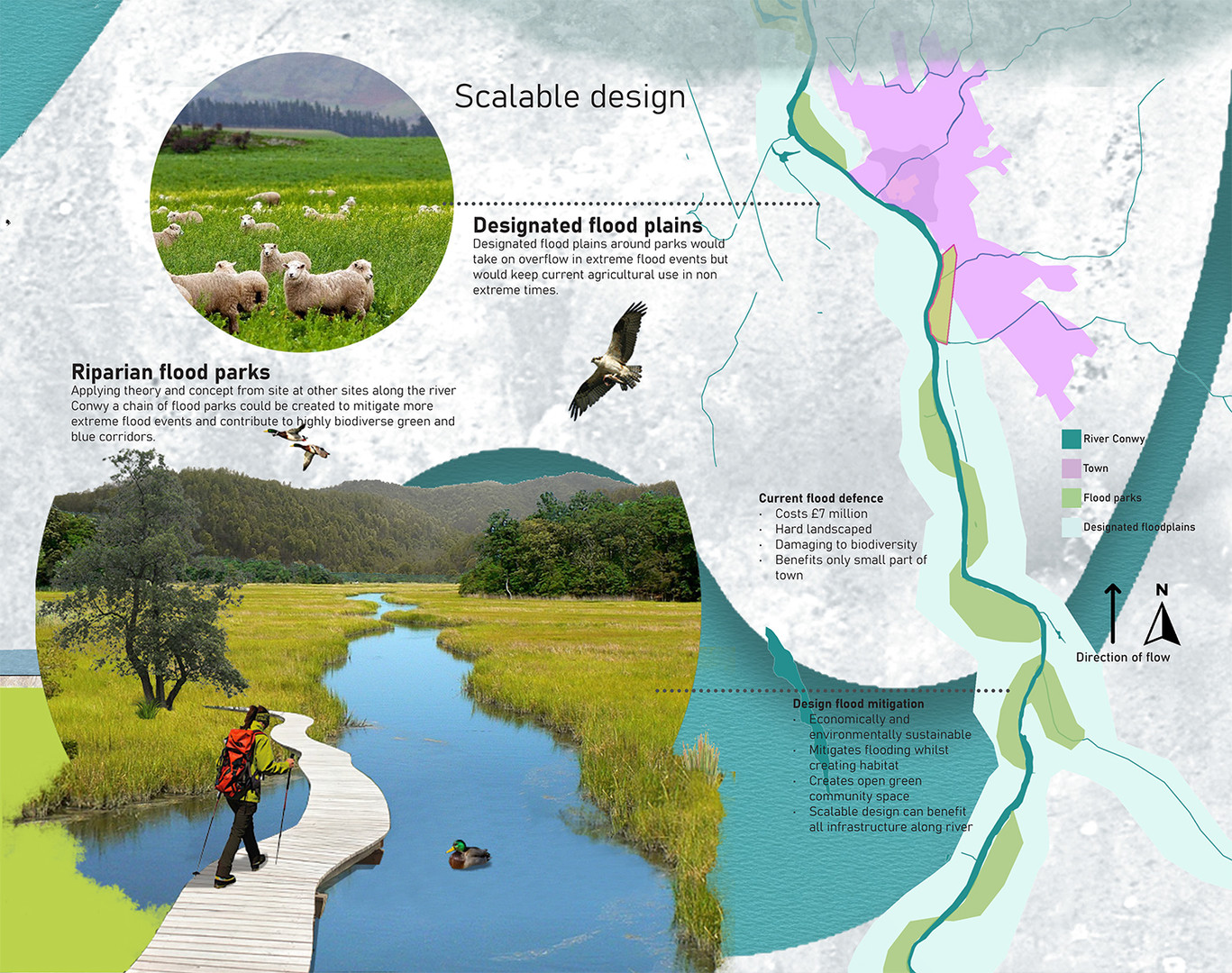 Scalable design – Creating green and blue corridors, mitigating flood sustainably