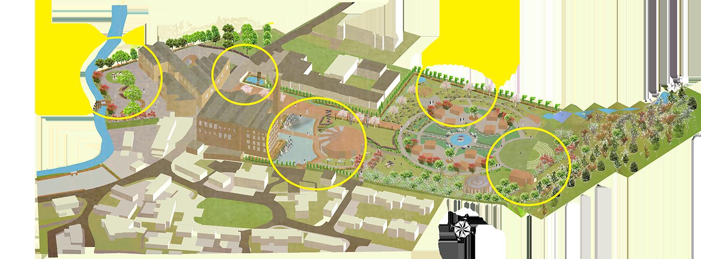 Axonometric site plan
