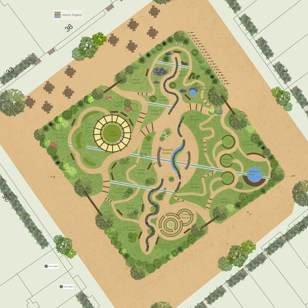 Golden Square Garden Masterplan