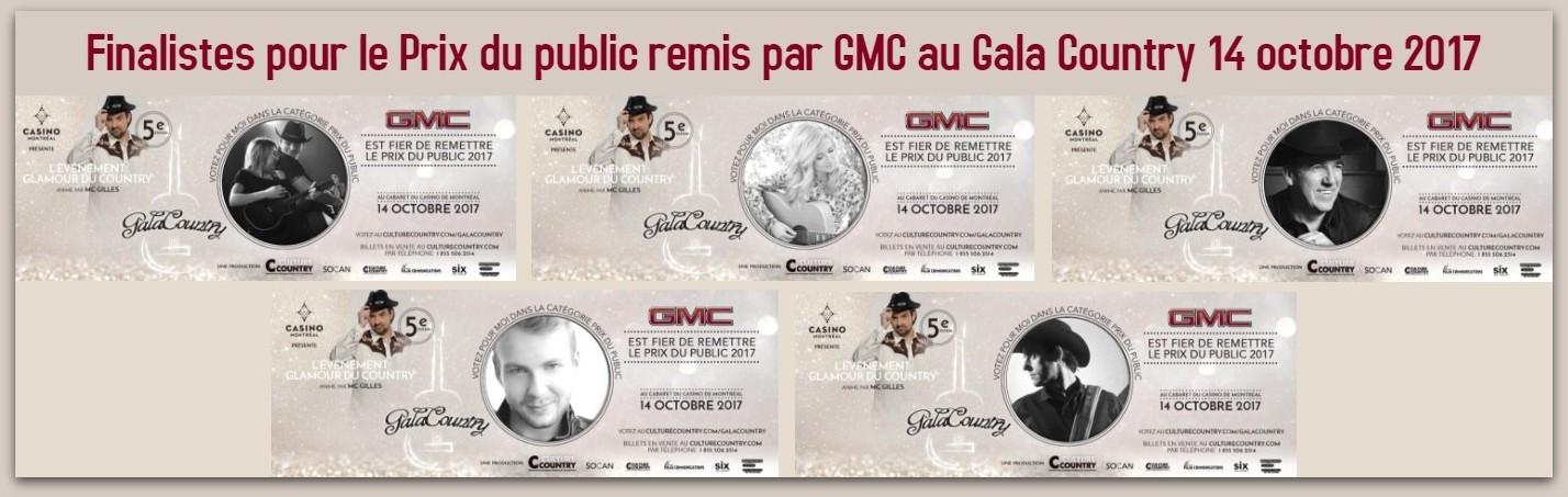 Finalistes Prix public GMC 2017