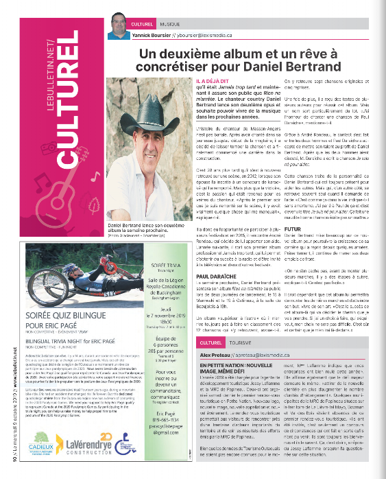 Journal le Bulletin 9 octobre 2019