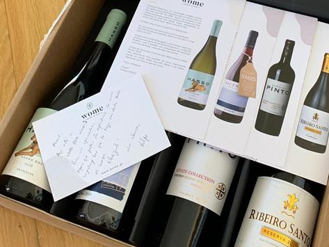 Cheers. A Wome Box deixa-lhe o melhor vinho à porta de casa