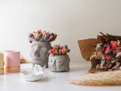 Estes irmãos criaram uma loja online com as flores secas da moda