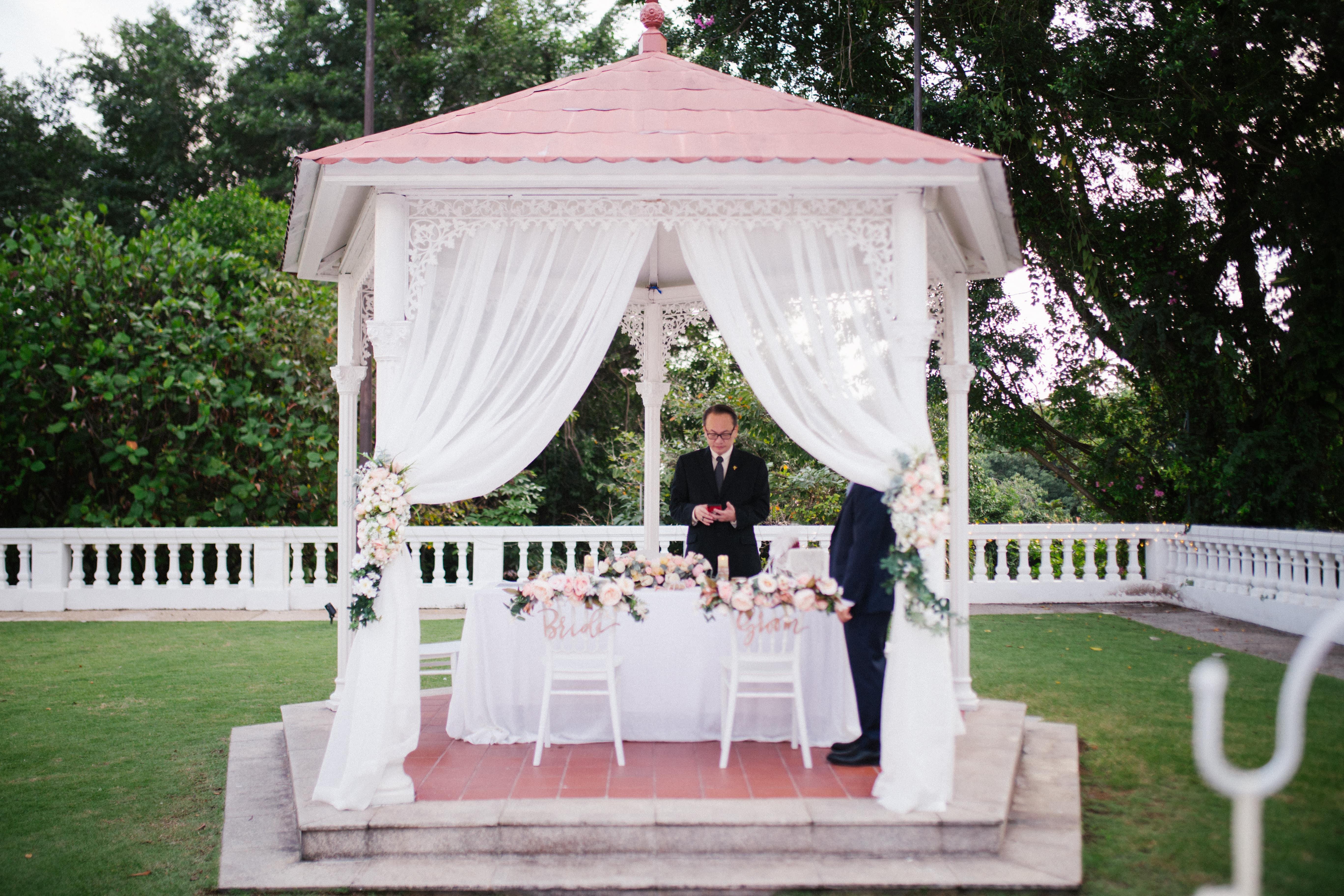floral arch wedding