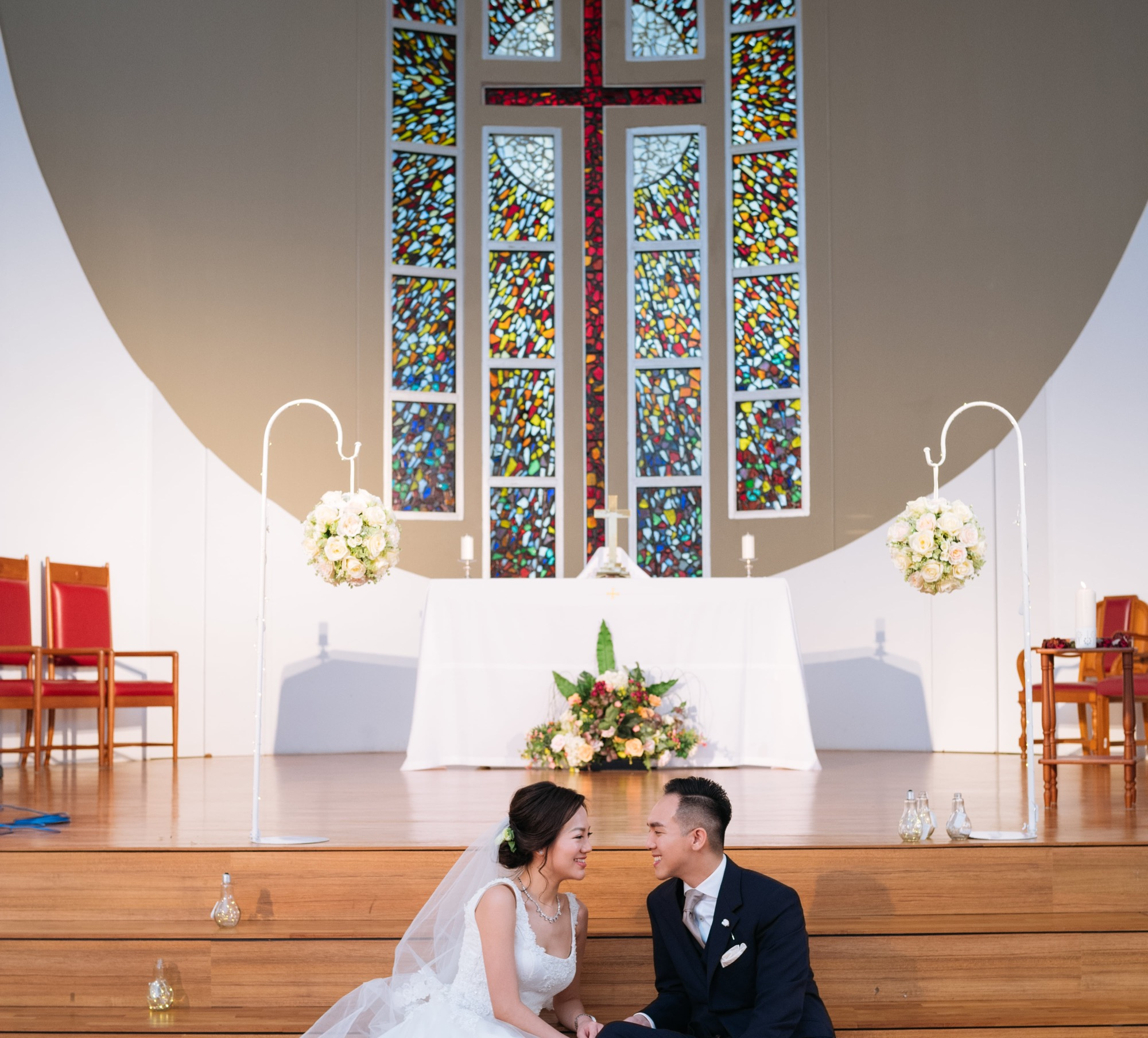 church wedding styling