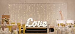 fairy lights backdrop