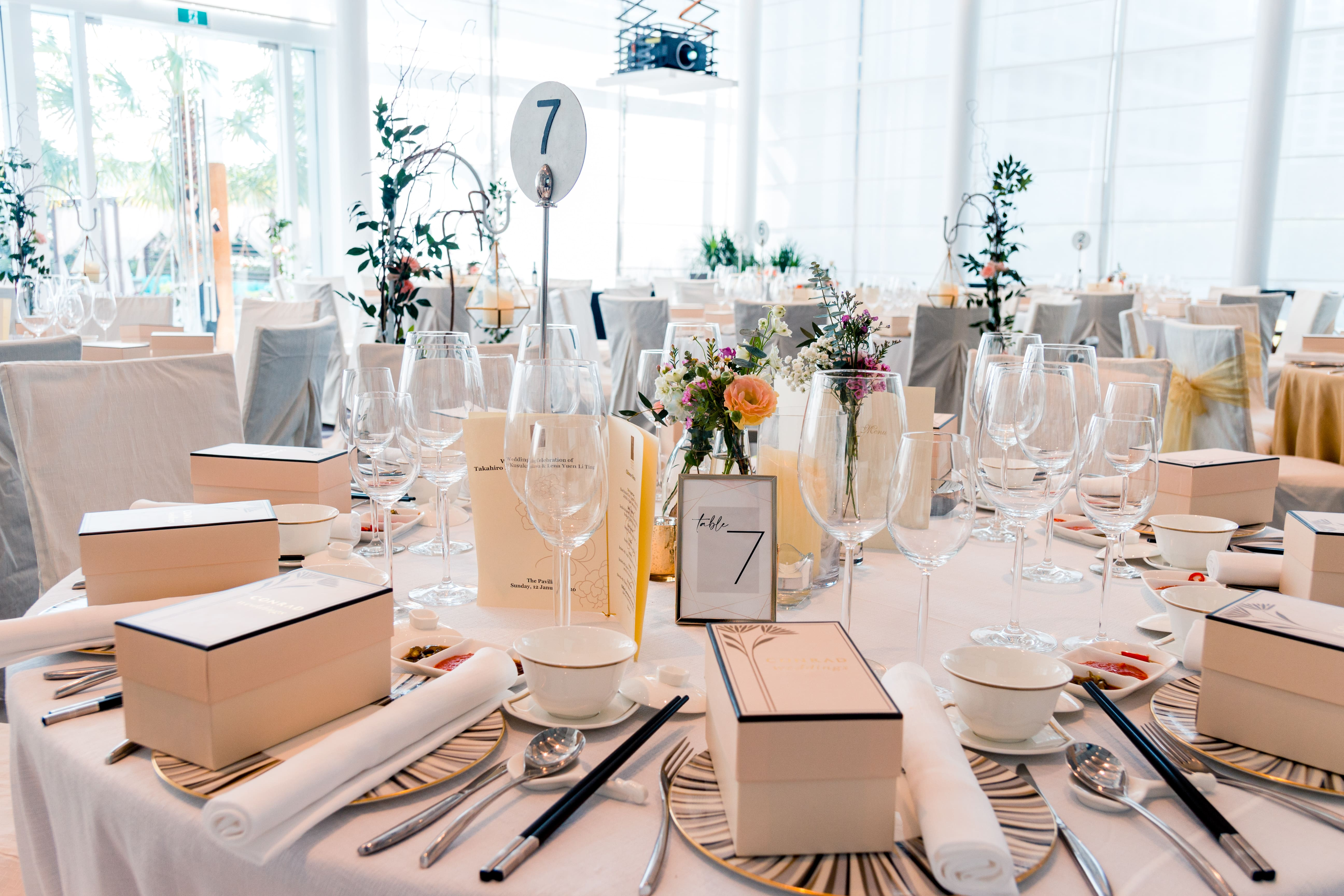 wedding banquet styling