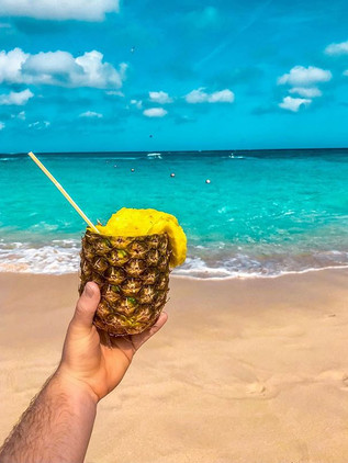 Somewhere in the Bahamas sippin' somethi