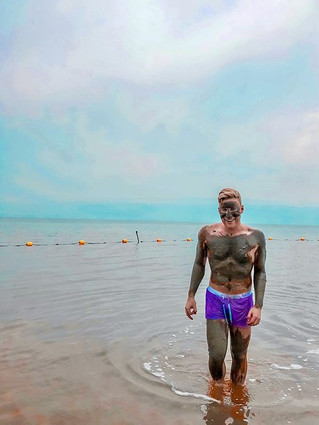 Looking dead in the Dead Sea. This Sea i