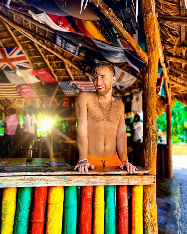 In Jamaica there are little hut bars eve