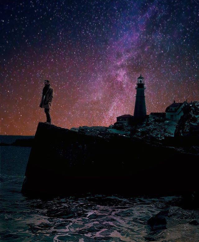 📍Portland, Maine_•_•_•_#nightsky #starp