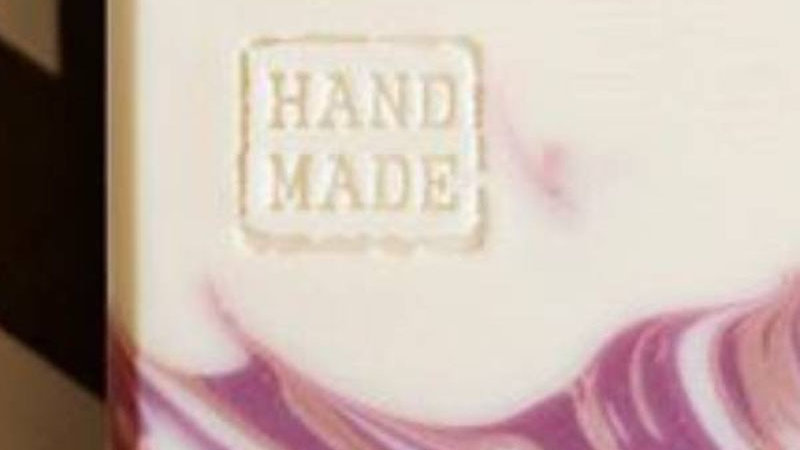 Handmade Text Clear Soap