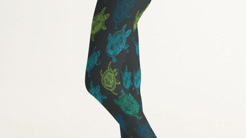 Women's Active Comfort Sea Turtle Sport Yoga Pant