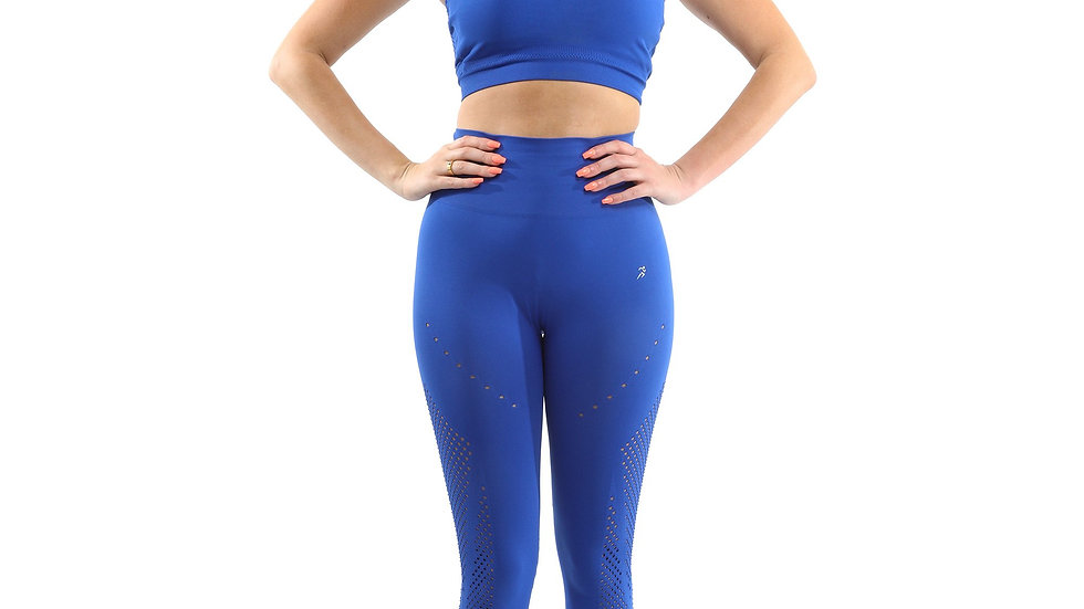 SALE! 50% OFF! Milano Seamless Set - Legging- Blue [MADE IN ITALY] - Size Small