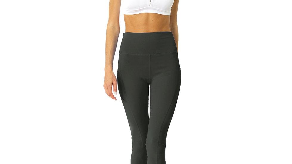 High Waisted Yoga Leggings - Slate Grey