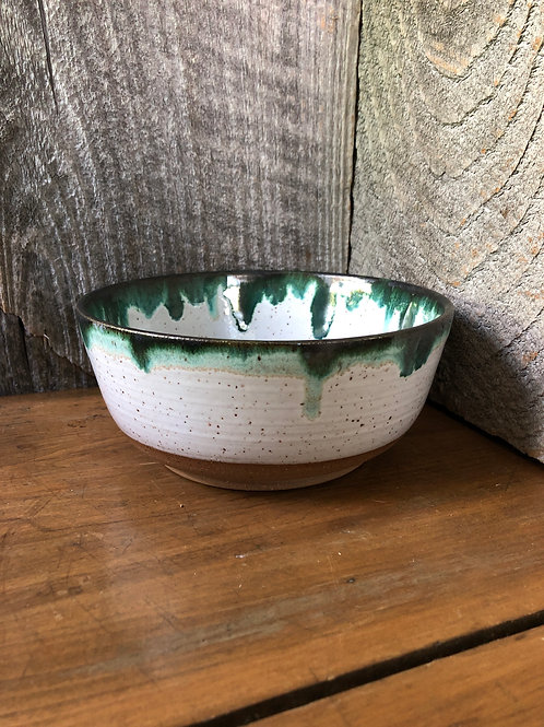 No. 58 Drippy Green Small Serving Bowl