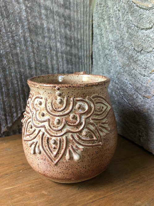 No. 12 Speckled Shino Slip Trail Mug
