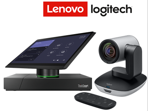 Lenovo ThinkSmart Hub 500 com Logitech PTZ Pro 2