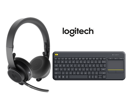 LOGITECH ZONE WIRELESS E ZONE WIRELESS PLUS + WIRELESS TOUCH KEYBOARD K400 PLUS