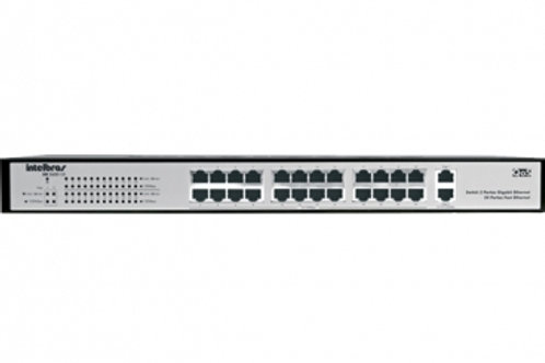 SWITCH 24 PORTAS GIGABIT ETHERNET INTELBRAS SG 2400 QR