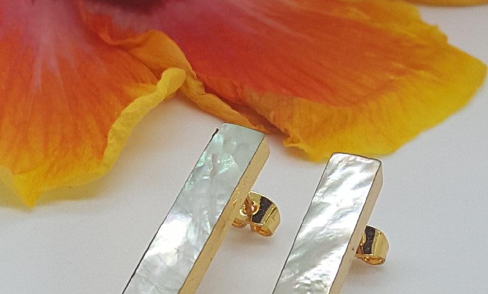 Crystals and Metal Stud Earrings