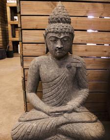 "32"" Sitting Stone Buddha"