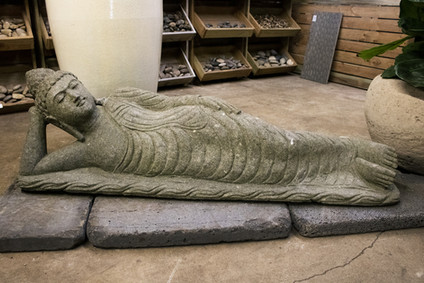 4' Sleeping Stone Buddha
